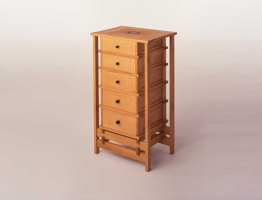 Chest if drawers side view